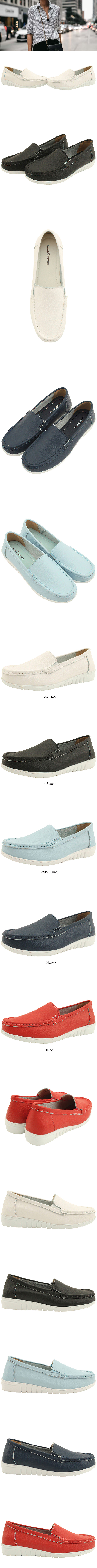 Leather Simple Shoes Loafers Black