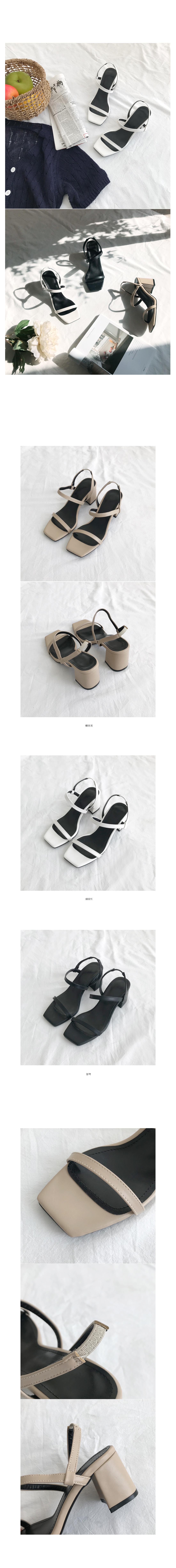 Holic Strap Sandal Heels - White 245, Beige 225