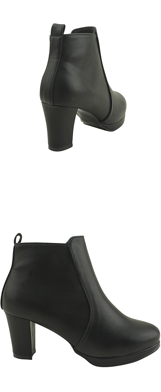 Simple line ankle boots