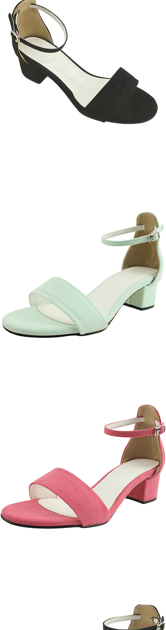 5cm mint suede strap sandals