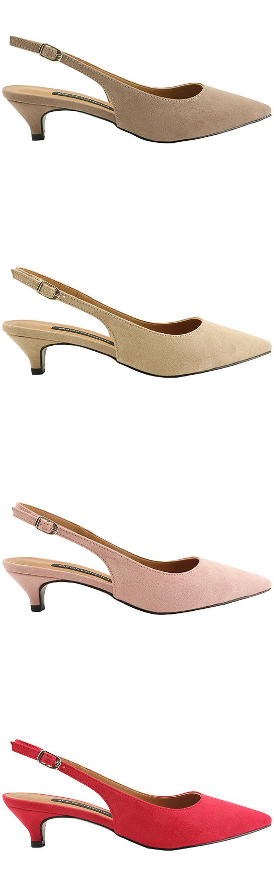 Stiletto Sling Bag Middle Heel 4cm Light Pink