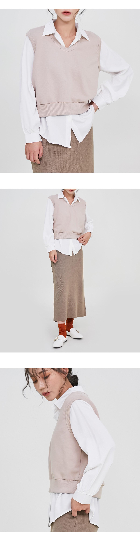 Leaf button blouse