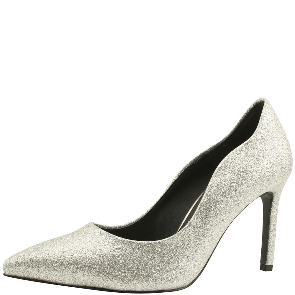 Bling Bling Glitter Stiletto High Heel Silver