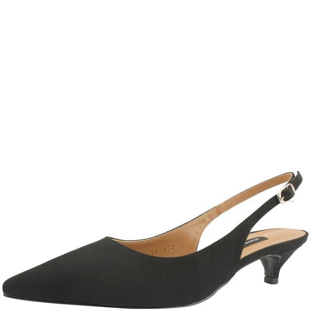 Stiletto Slingback Middle Heel 4cm Black