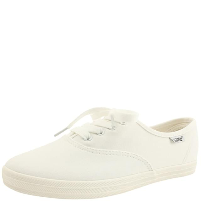 Simple Cotton Canvas Sneakers White