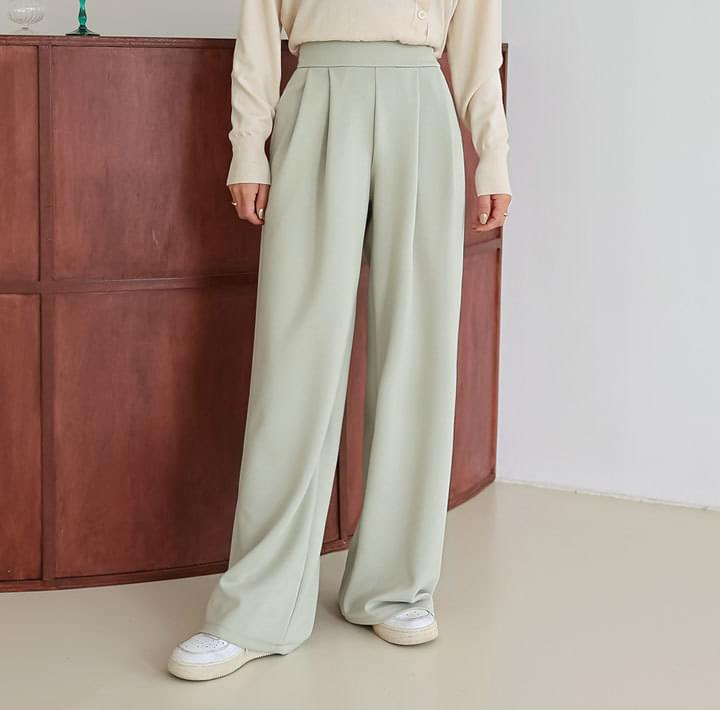 LUTS SPAN PINTUCK WIDE PANTS