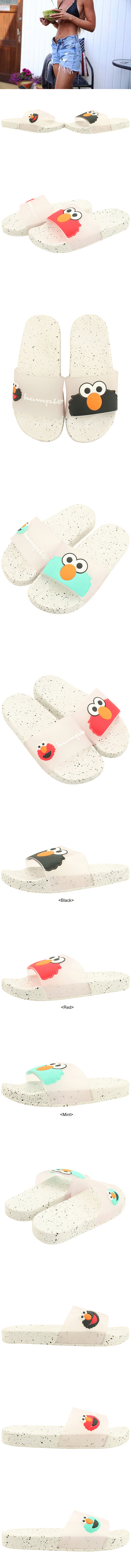 Character Soft Flat Slippers Black