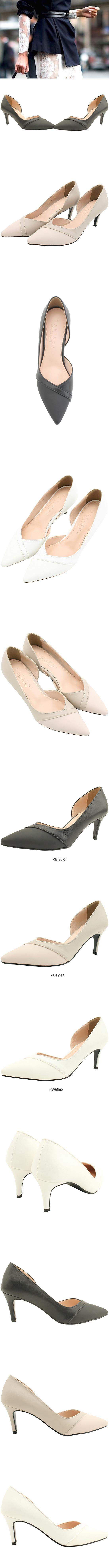 Combi Side Open Stiletto Heel 7cm White