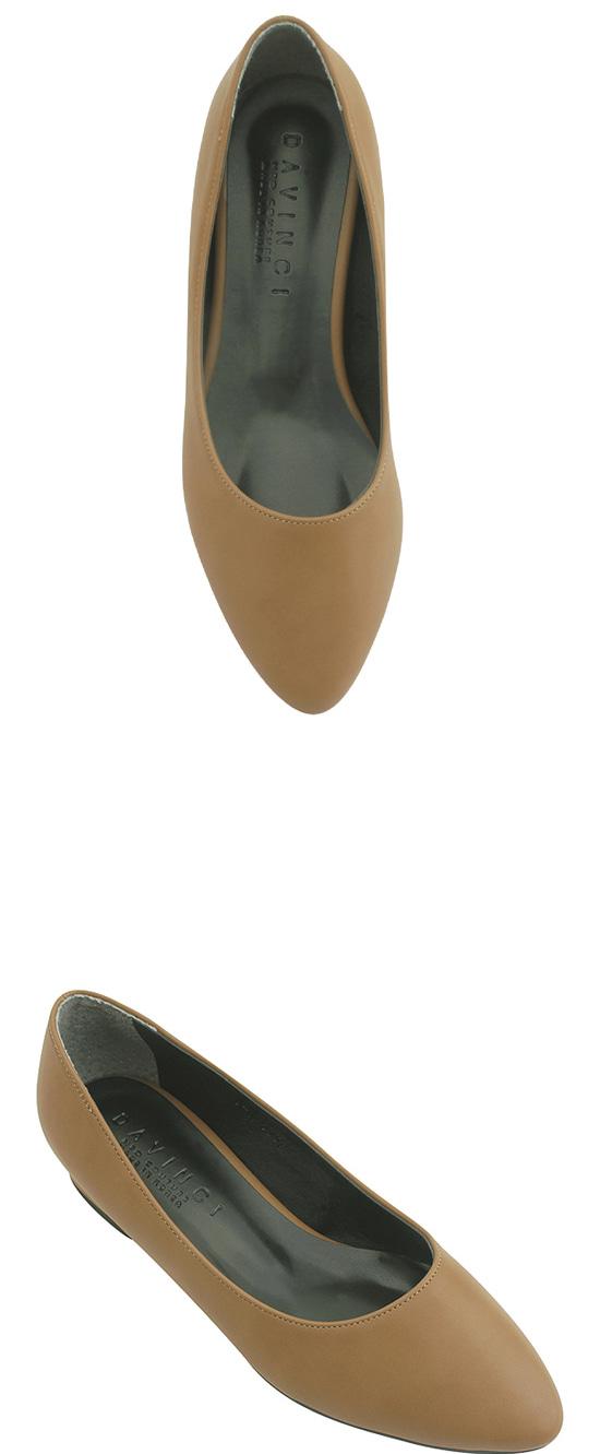 Stiletto low heel flat pumps jeans beige
