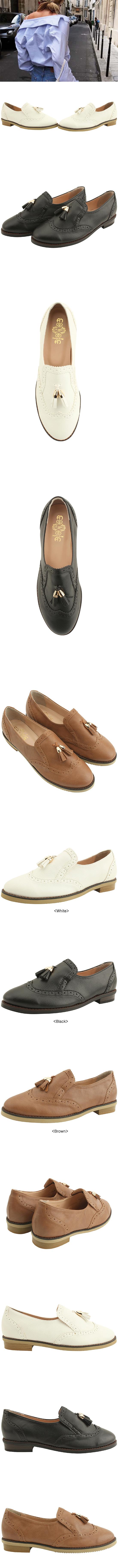 Tassel oxford loafers black