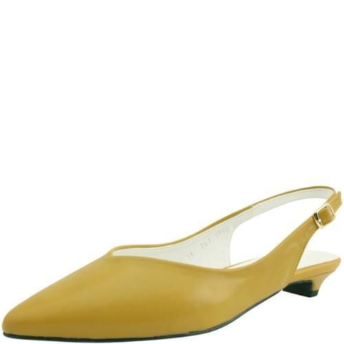 Stiletto Slingback Low Heel Yellow