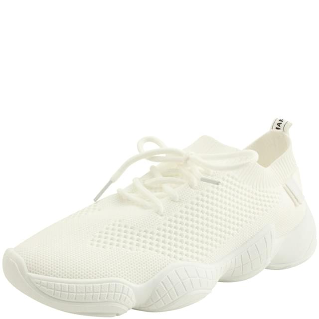 Knit Ugly Span Sneakers White