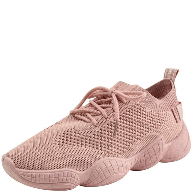 Knit Ugly Span Sneakers Pink