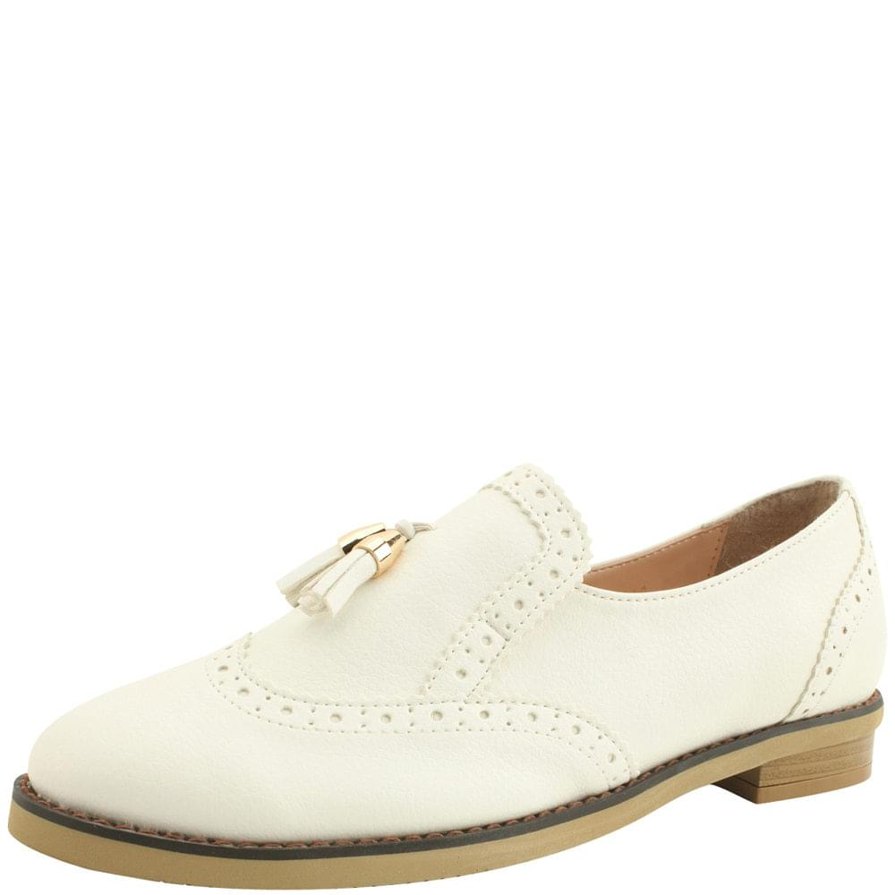 Tassel oxford loafers white