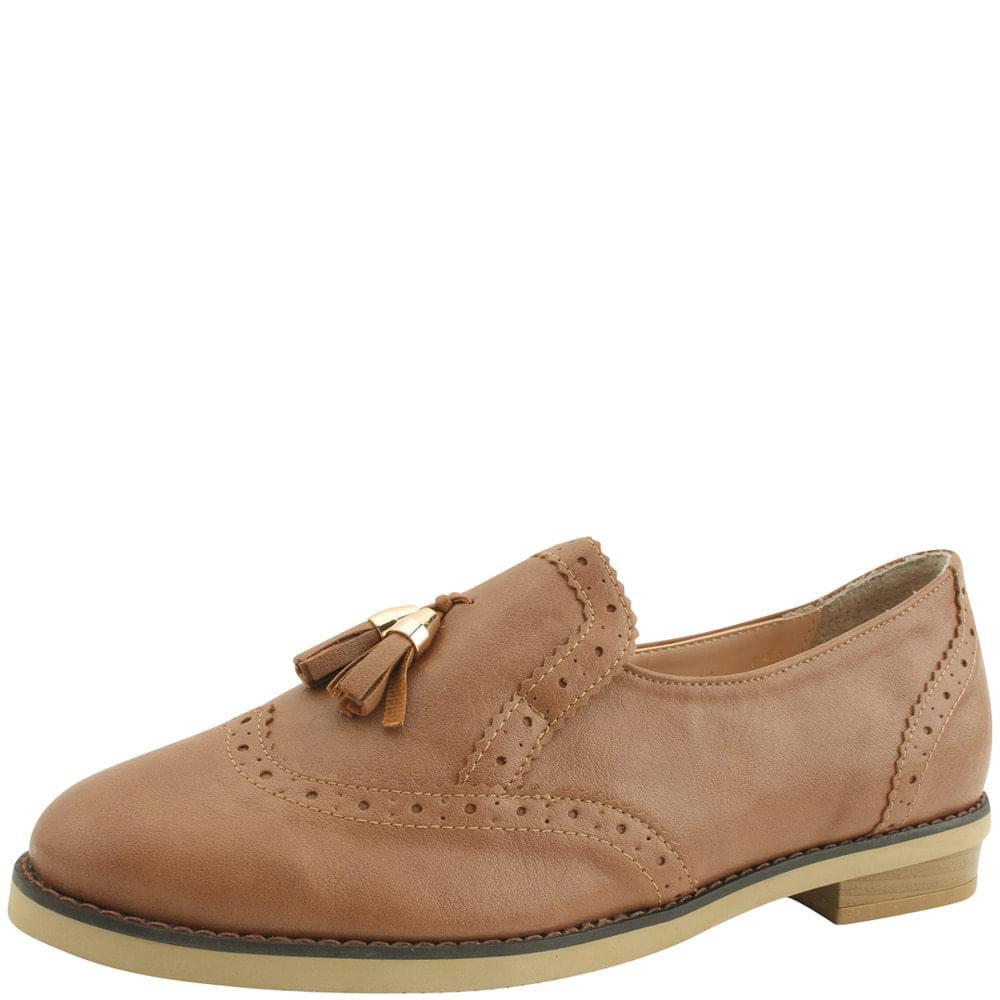 Tassel oxford loafers brown