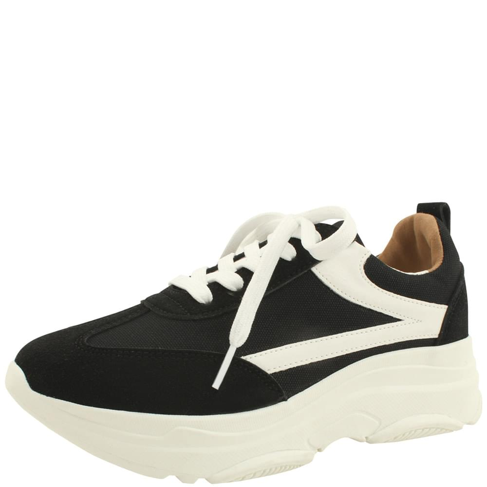Cotton Ugly Full Heel Sneakers Black