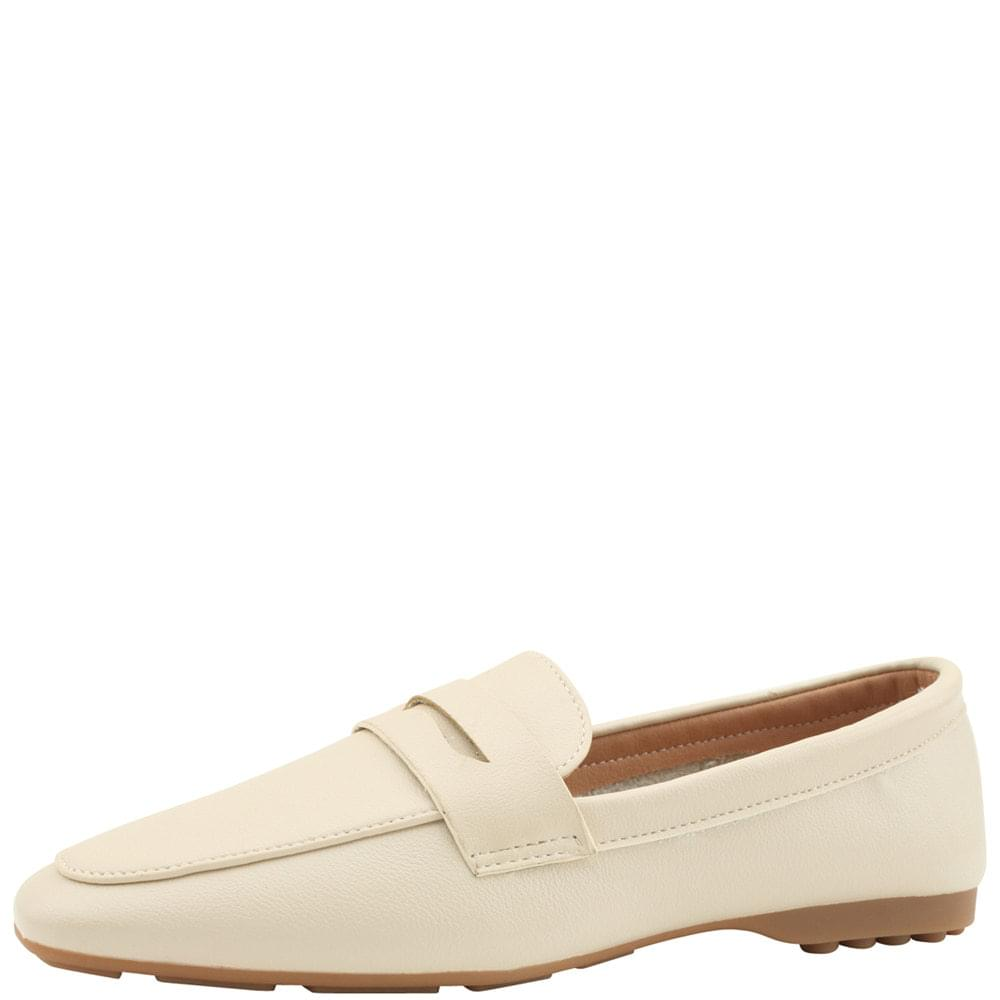 Soft Driving Penny Loafers Ivory