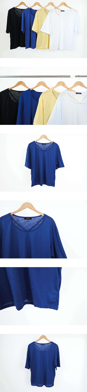V-Thong Slub Short Sleeve T-Shirt