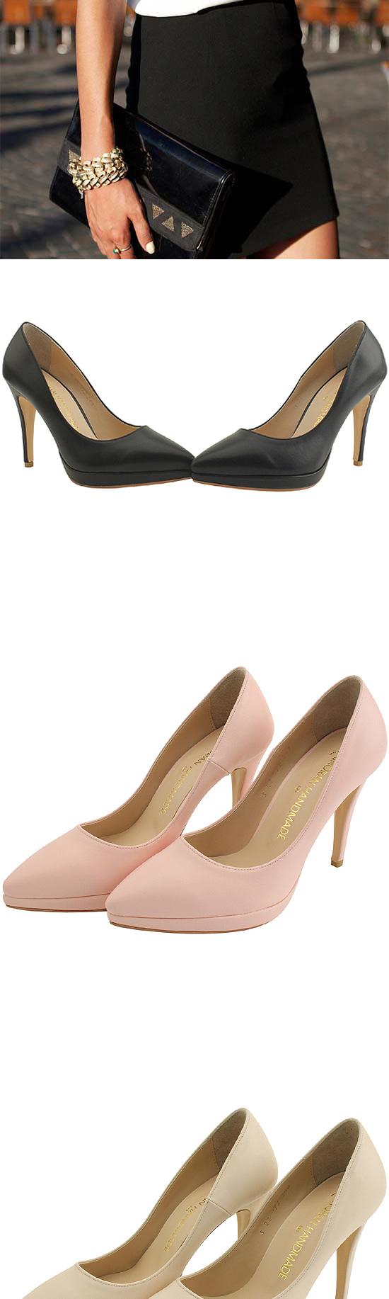 Gaboshi Stiletto Kill Heel Shoes 10cm Pink