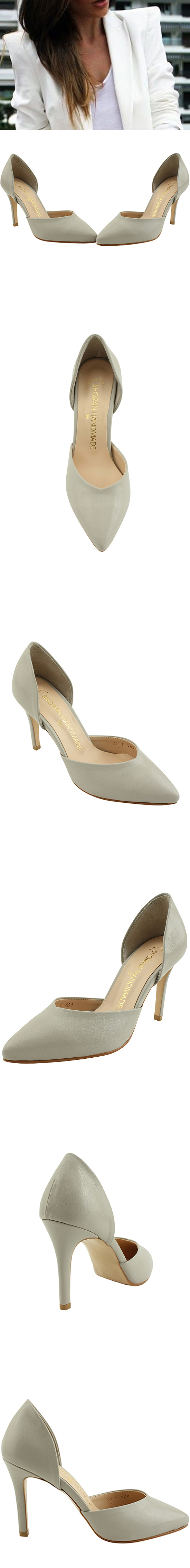 Side Open Stiletto Kill Heel Gray