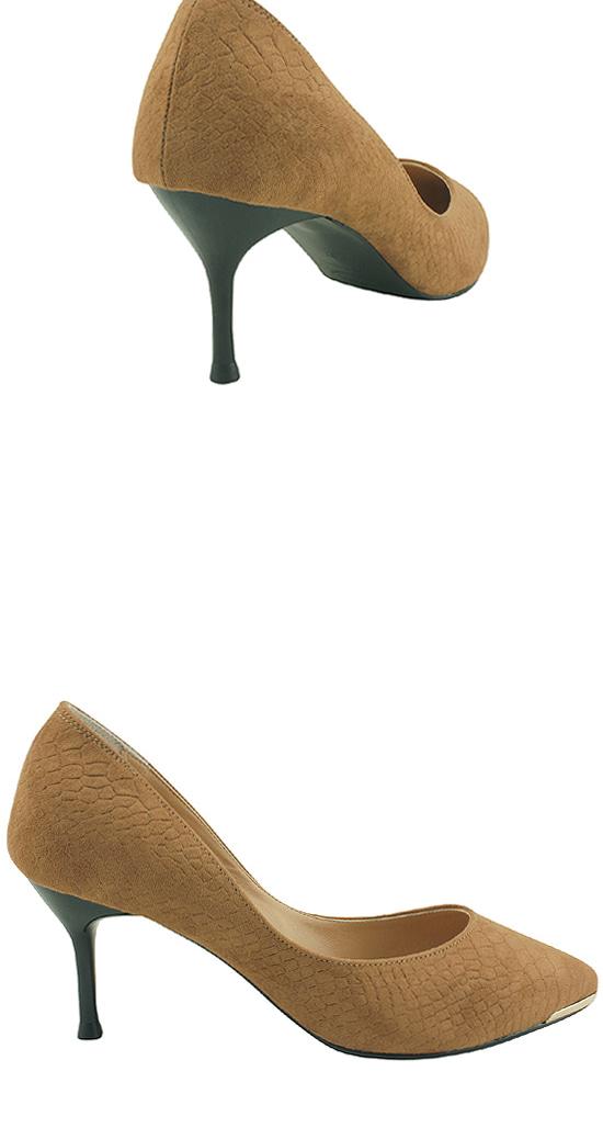 Python suede stiletto high heels beige