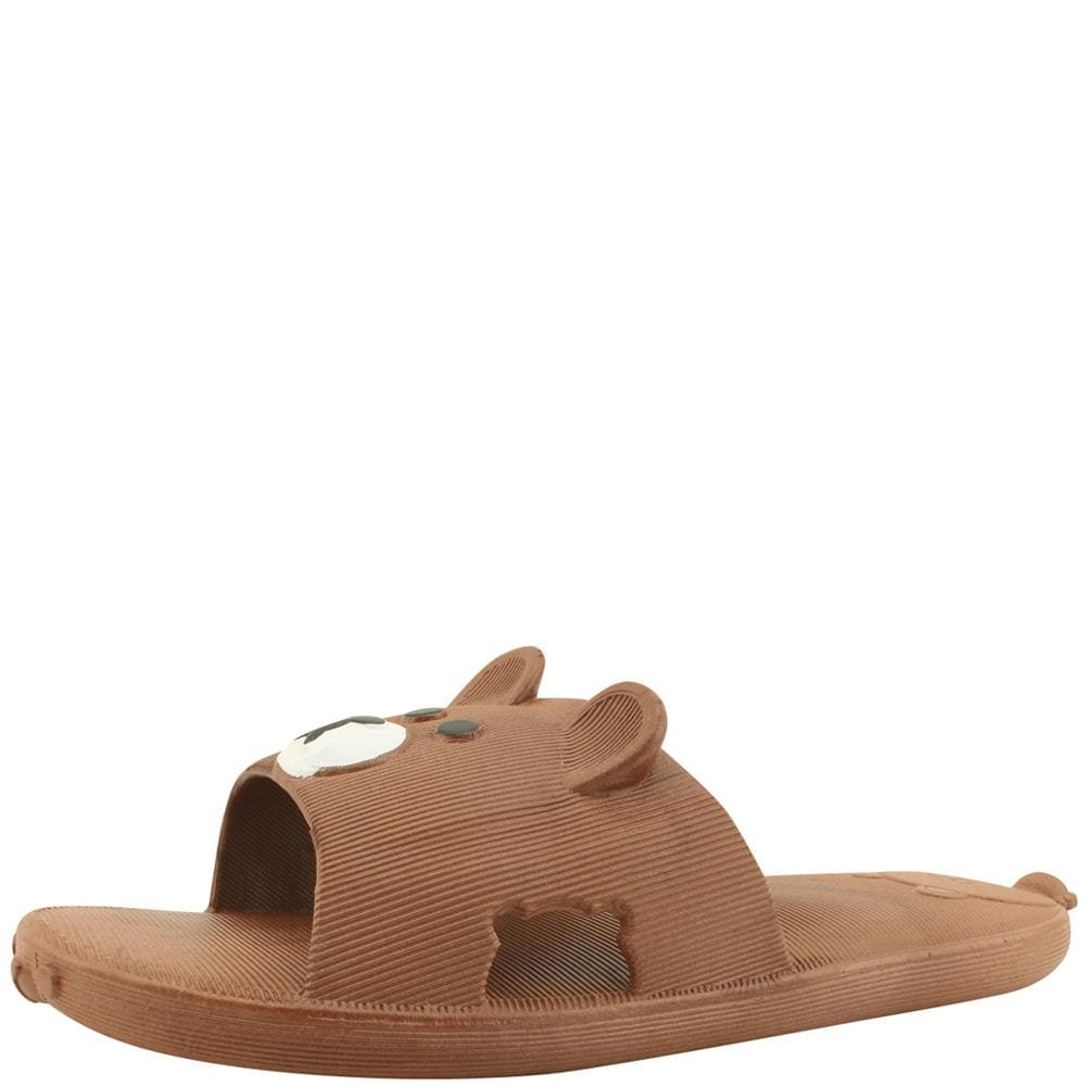 Bear slippers brown
