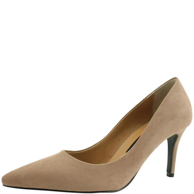 Suede Stiletto High Heels 8cm Jean Beige