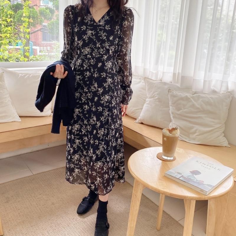 Foreve V chiffon dress