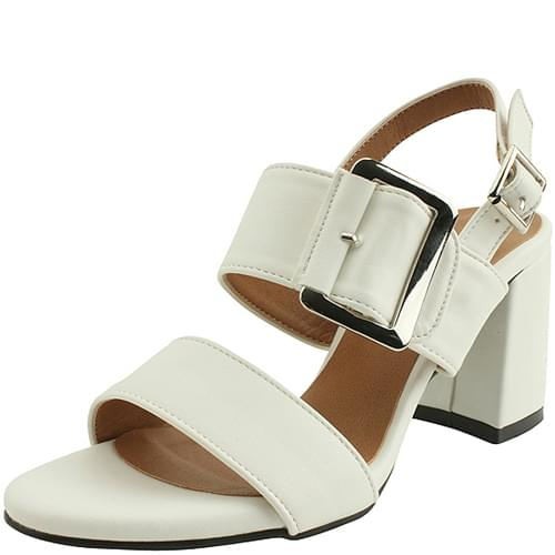 King Belt High Heel Sandals White