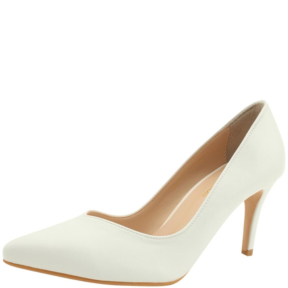 Simple Slim Stiletto High Heels 8cm White