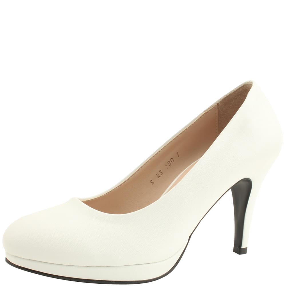 Heirloom Basic High Heel Pumps 9cm White
