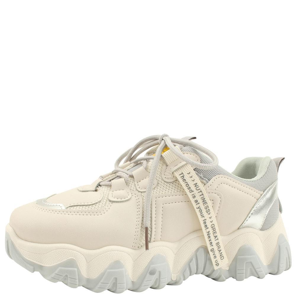 網眼厚底運動鞋