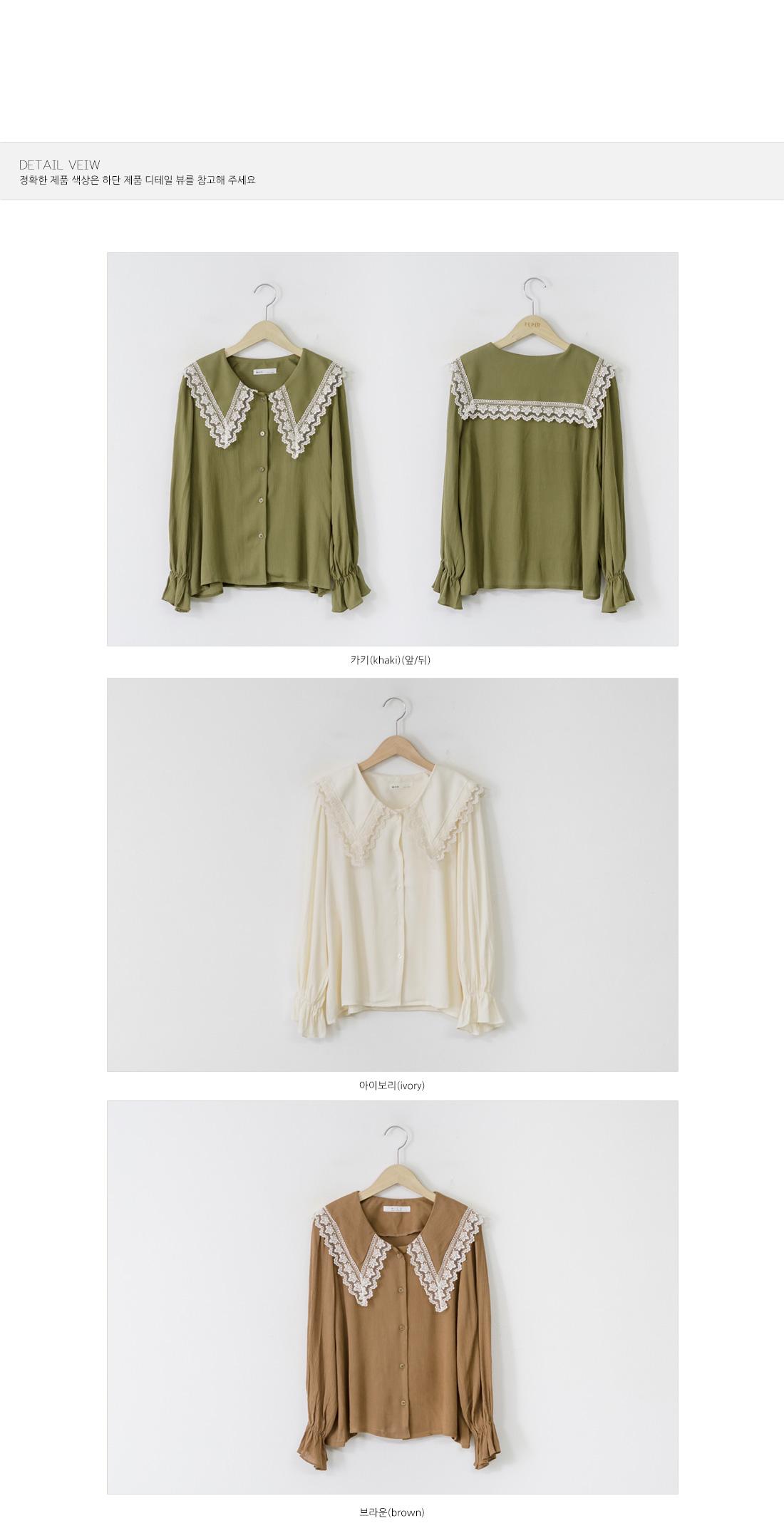 Lace Big Collar Blouse #44276