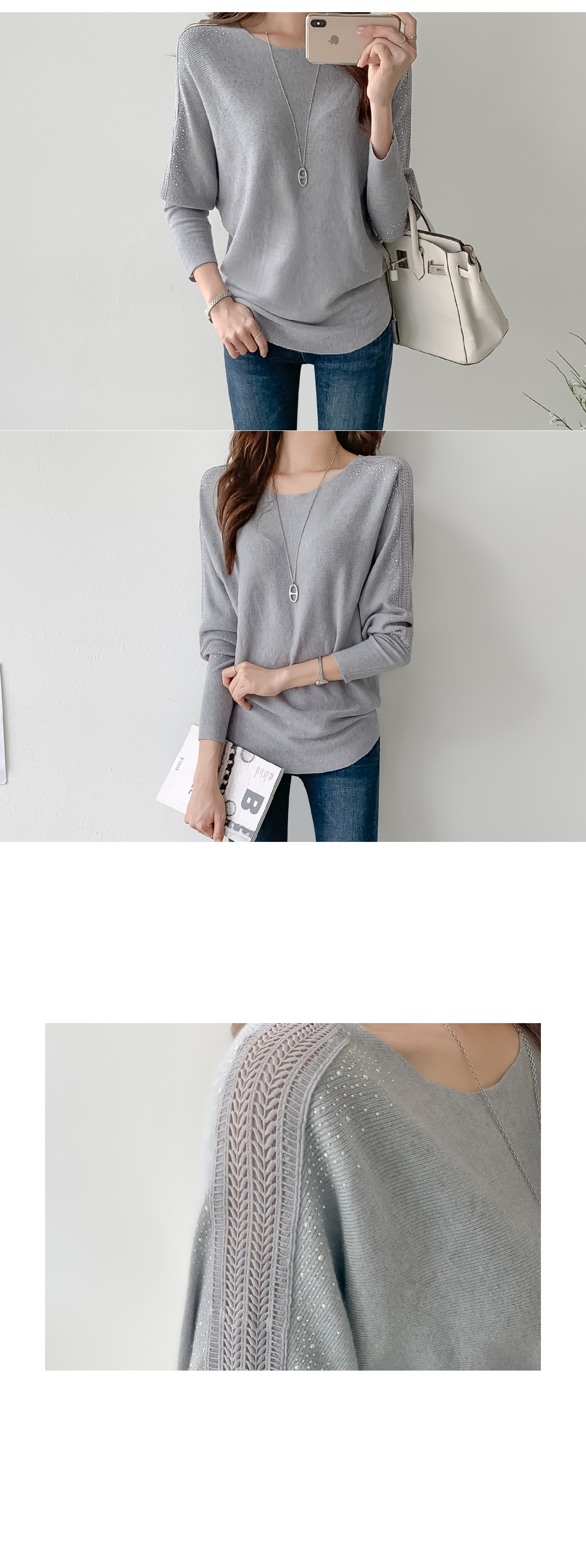 Lace Point Puff Knit #107549