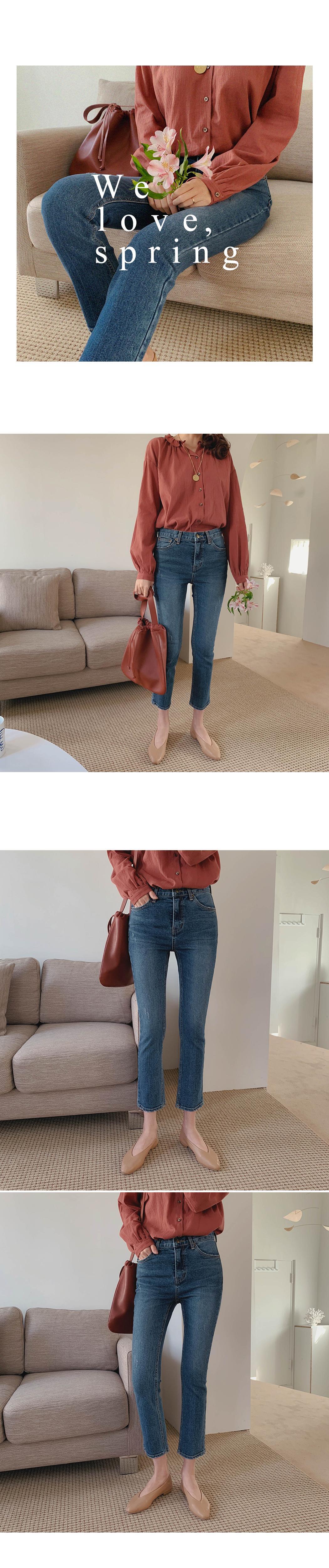 Fresh tan tan cropped denim pants