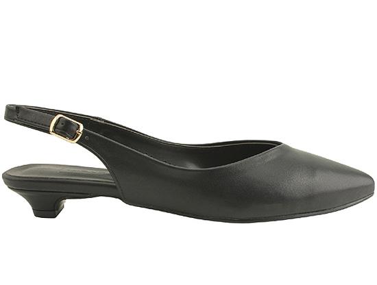 Stiletto Slingback Low Heel Black