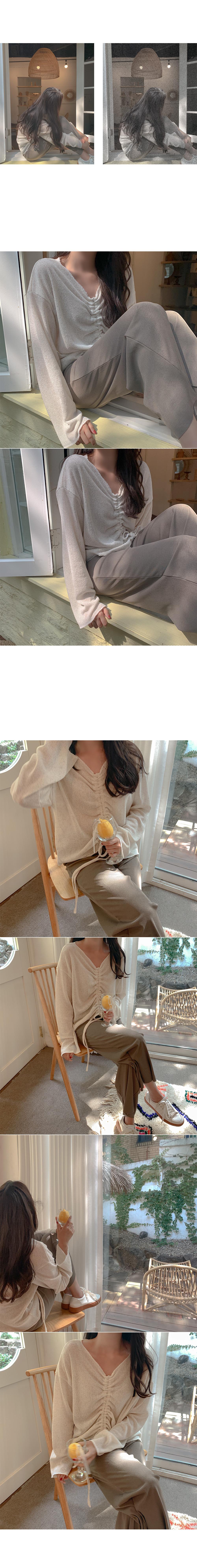 Imitation bookstring knit
