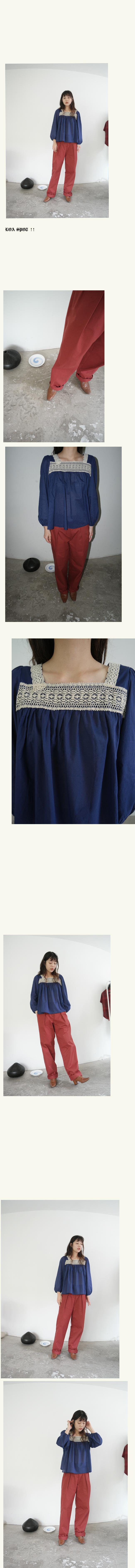 wide semi pot cotton pants