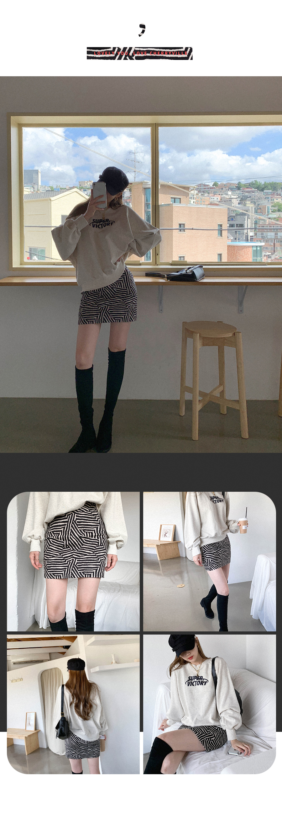 Tension Goode Pattern Mini Skirt