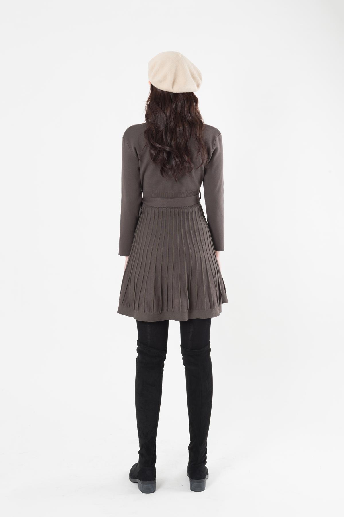 Ribbed Ribbon Dress