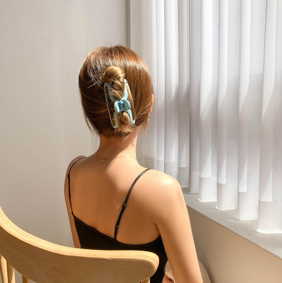 Matte vivid croque hair clip 6color