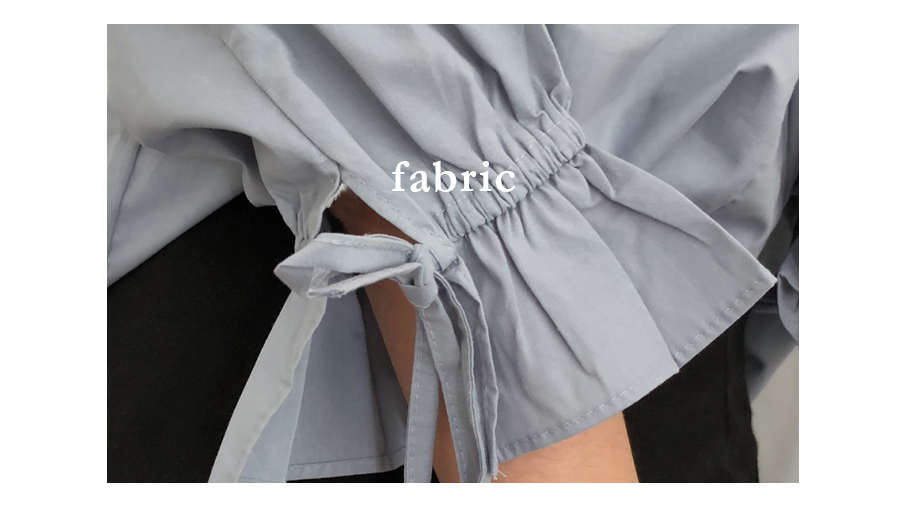Wish sleeve ribbon collar 7 blouse