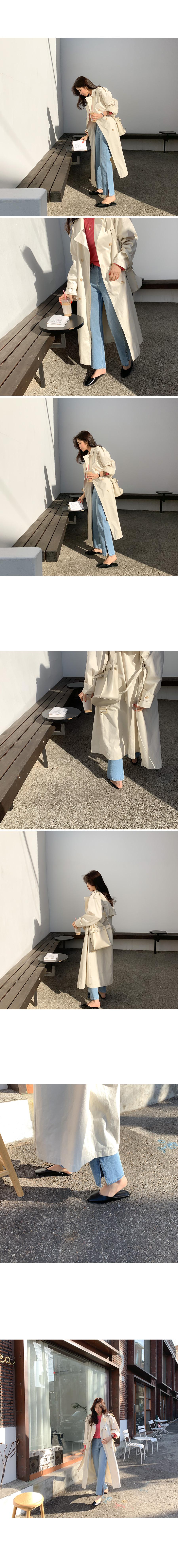Kinder wide slit denim pants