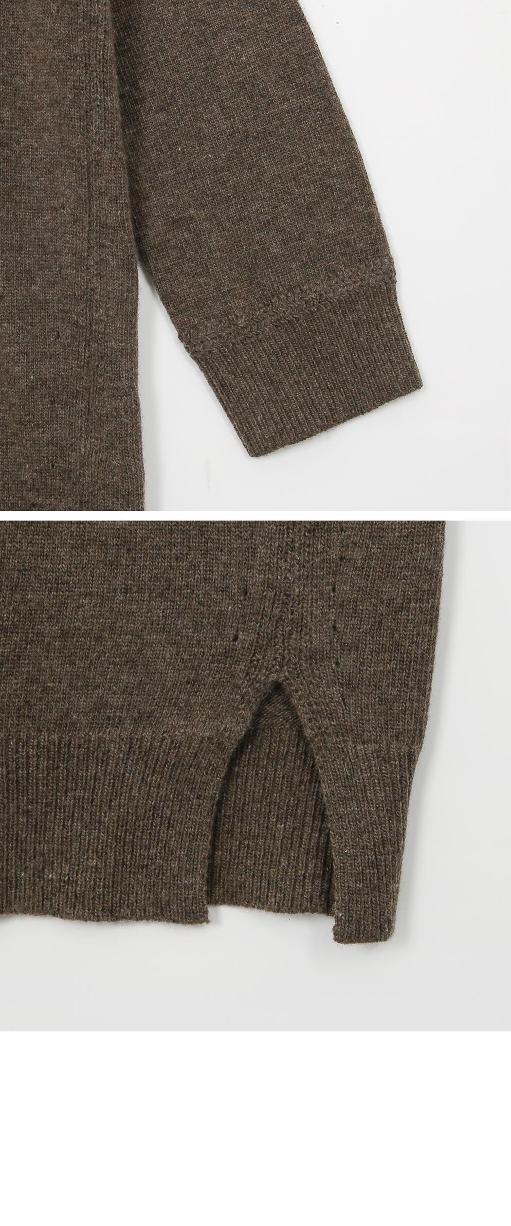Rich Fine Wool Cash Knit Long Dress