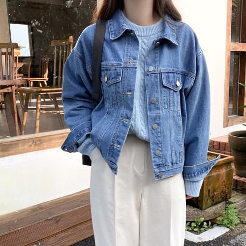Steady Daily Denim Jacket-Blue