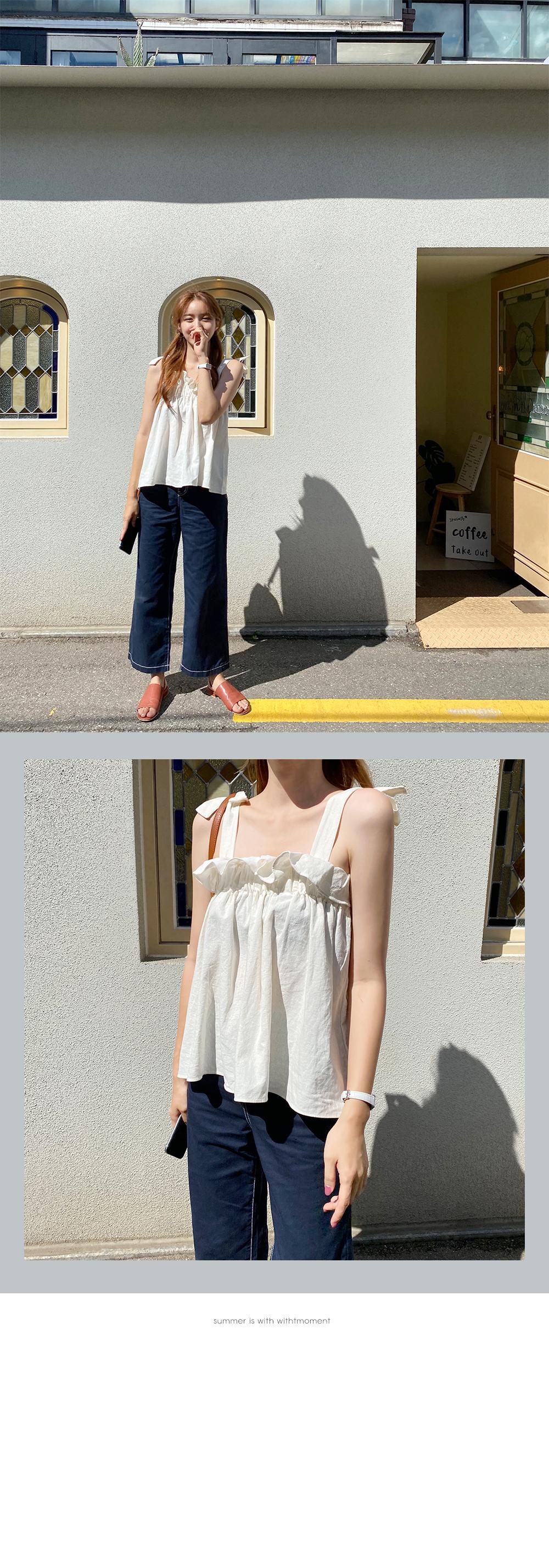 Summer stitch cotton pants