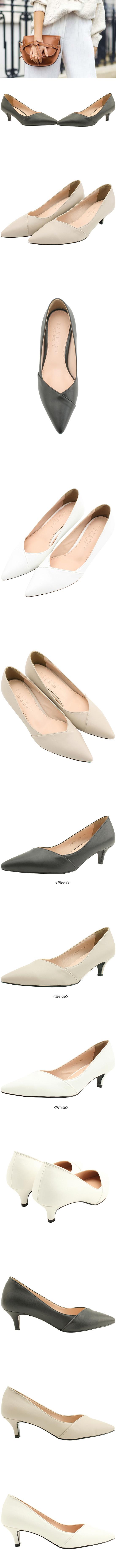 Stiletto Middle Heel Slim Shoes 5cm White