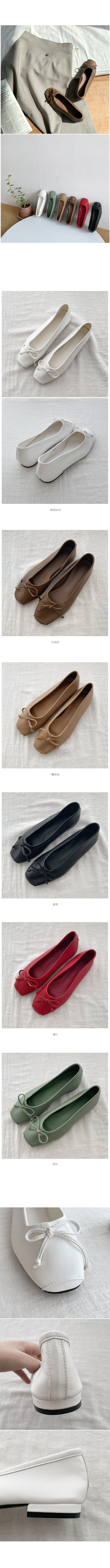 Chocolate Chip Ribbon Flat Shoes