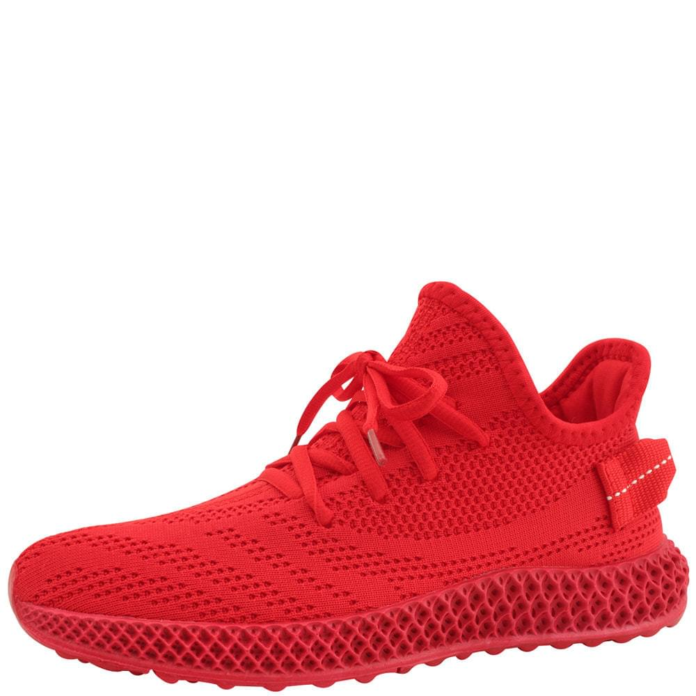 Spanknit Sox Mesh Sneakers Red