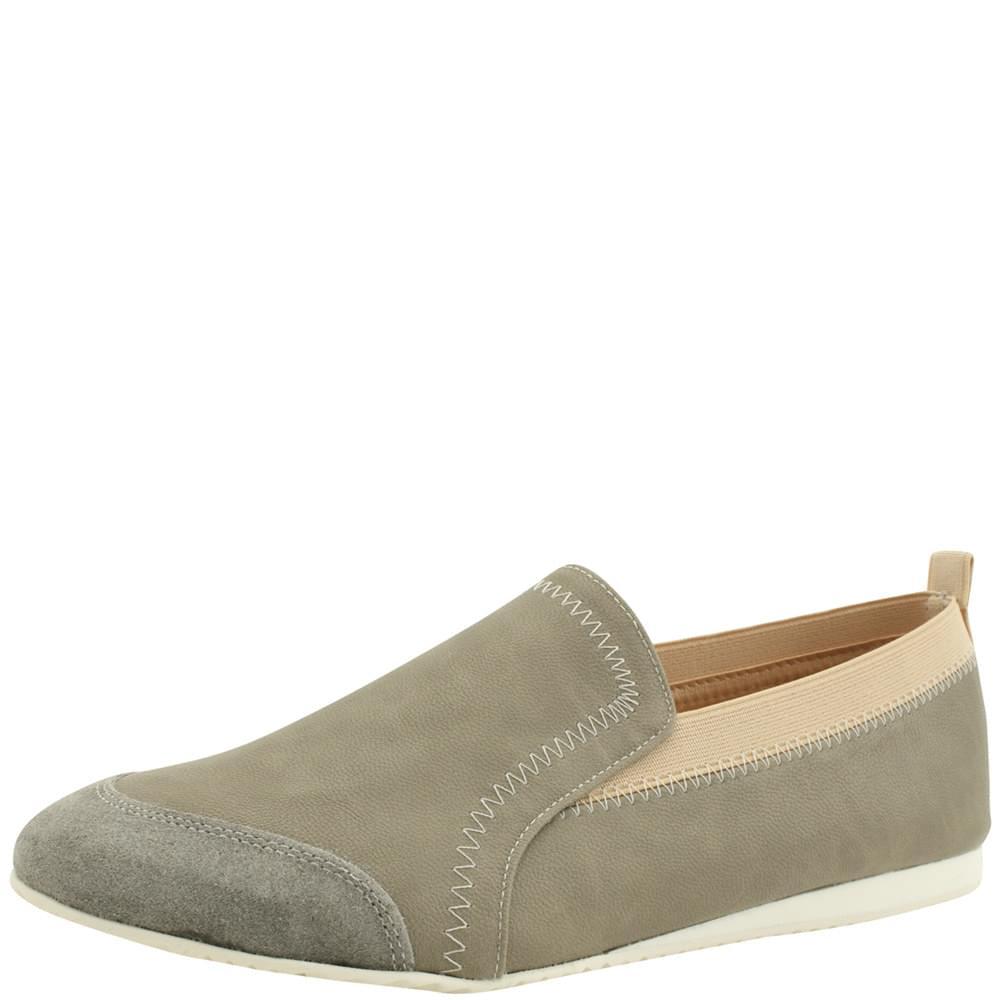Banding Slip-on Lightweight Flat Shoes Gray